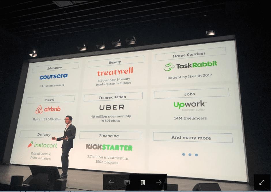 Adrien Nussenbaum addresses the Marketplace and Platform Summit audience