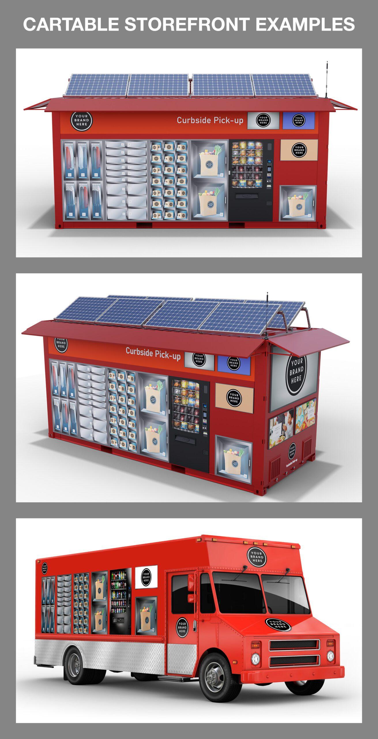 Cartable Popup Autonomous Retail Storefront Examples