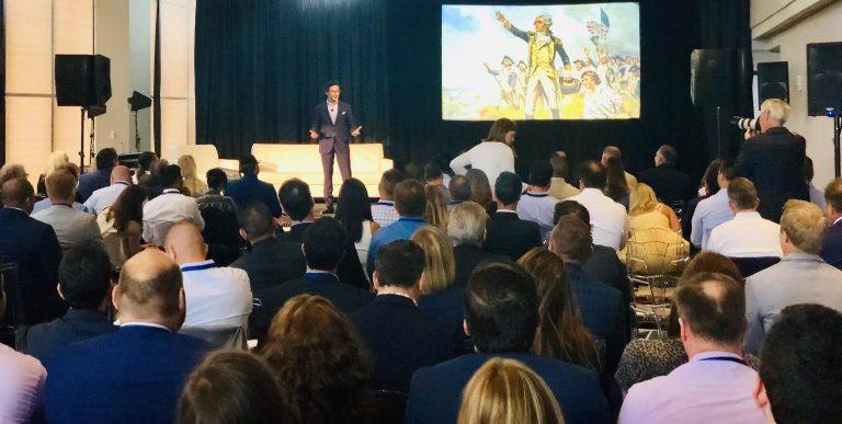 Adrien Nussenbaum delivers opening address at Mirakl Summit 2019