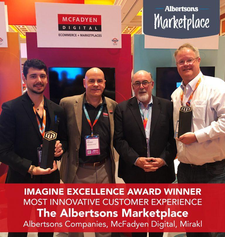 McFadyen Digital, Mirakl, Albertsons Imagine Award Winners for The Albertsons Marketplace