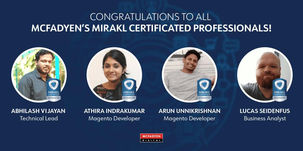 McFadyen Digital Mirakl Certified Integrator Certifications