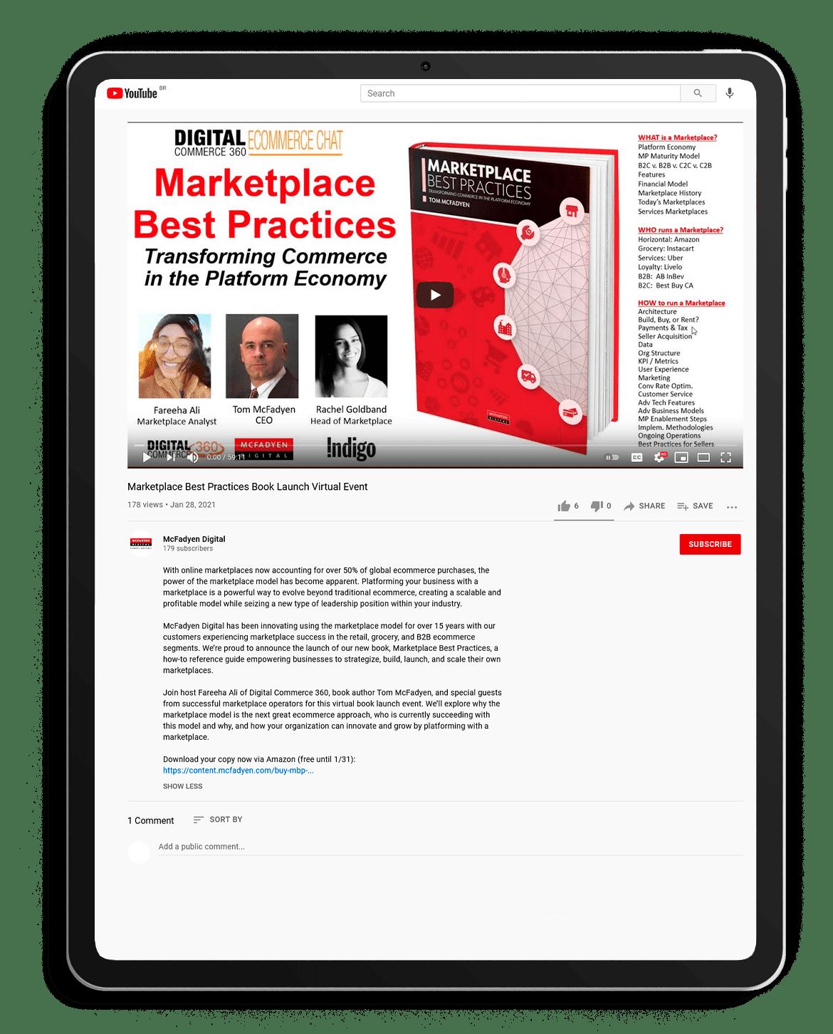 Marketplace Best Practices Book Launch Event